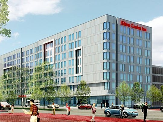 An eight-story, 180-room hotel has been proposed for Camden's Waterfront.