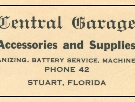 The Krueger Central Garage advertisement in 1922.