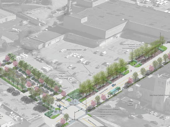 A rendering shows the city's linear park that will