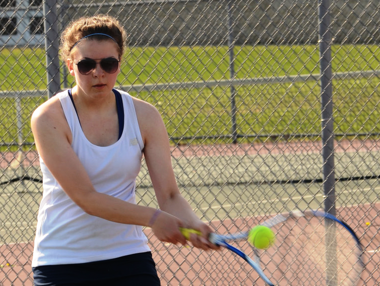 Stevenson's Danielle Marzec went 3-0 at No. 3 singles Saturday.