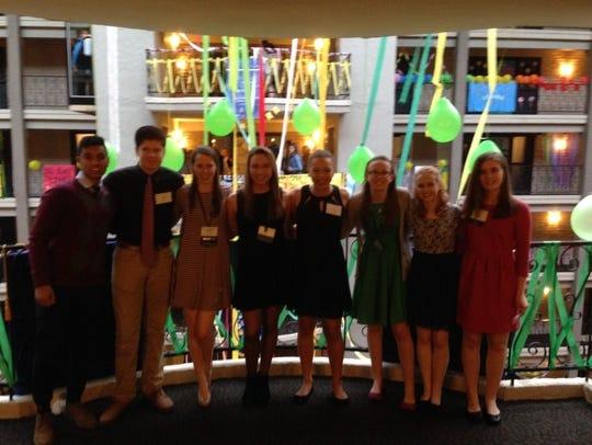 Wausau East Key Club members attend the 2016 District