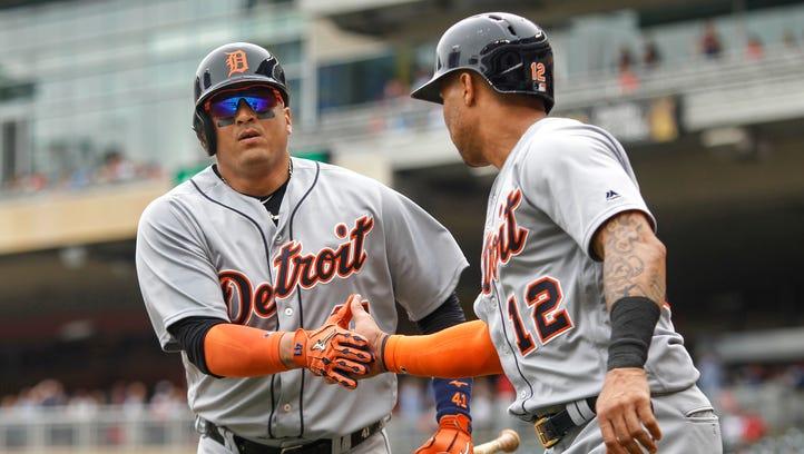 Martinez 'swinging it good,' gets two hits, RBI
