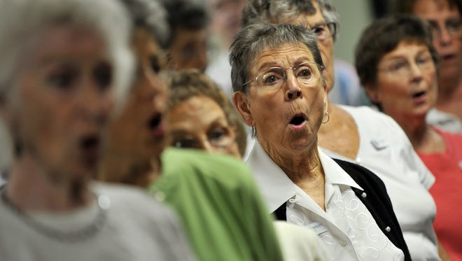 """Treasure Coast Chorale performs """"There's No Business Like Snow Business"""" on Saturday at First Baptist Church in Vero Beach. The group also has two performance at the church in December."""