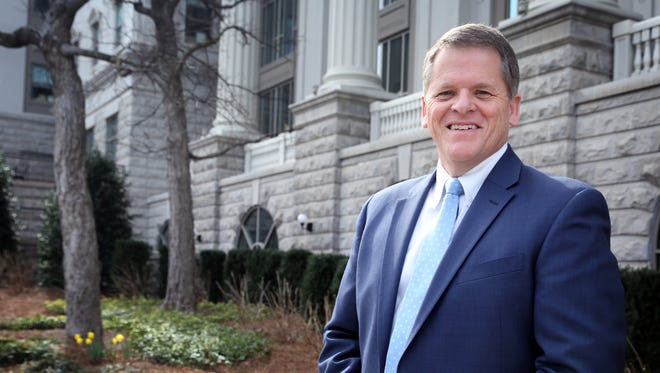 Pastor John Roebuck on Belmont University's campus, where he is the executive director of the Institute for Innovative Faith-Based Leadership