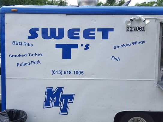 Sweet T's Barbecue and Catering is often parked at