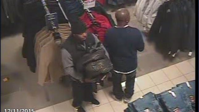 South Burlington police released this photo of the two men suspected of taking merchandise from JC Penney on Friday at the University Mall in South Burlington.