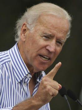 Vice President Joe Biden delivers his remarks at the Harkin Steak Fry.