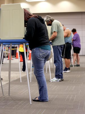 Early voters hit the polls in Shelby on Wednesday.
