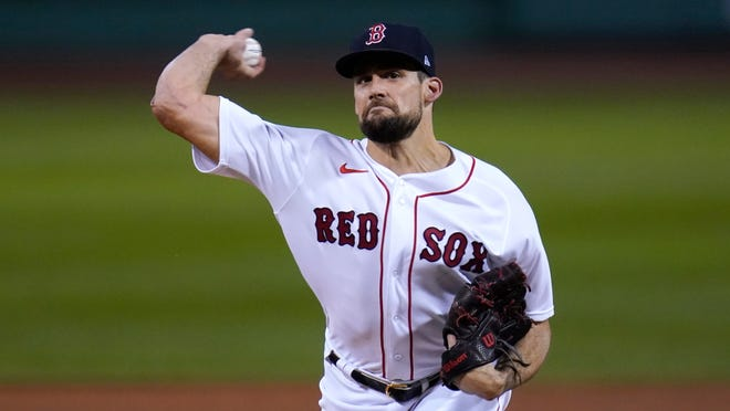 Red Sox right-hander Nathan Eovaldi struck out eight over six shutout innings in his final start of the season.