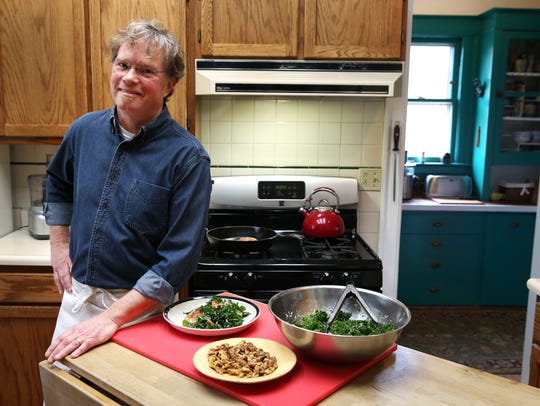 Dan Eaton in his kitchen where he created meals for