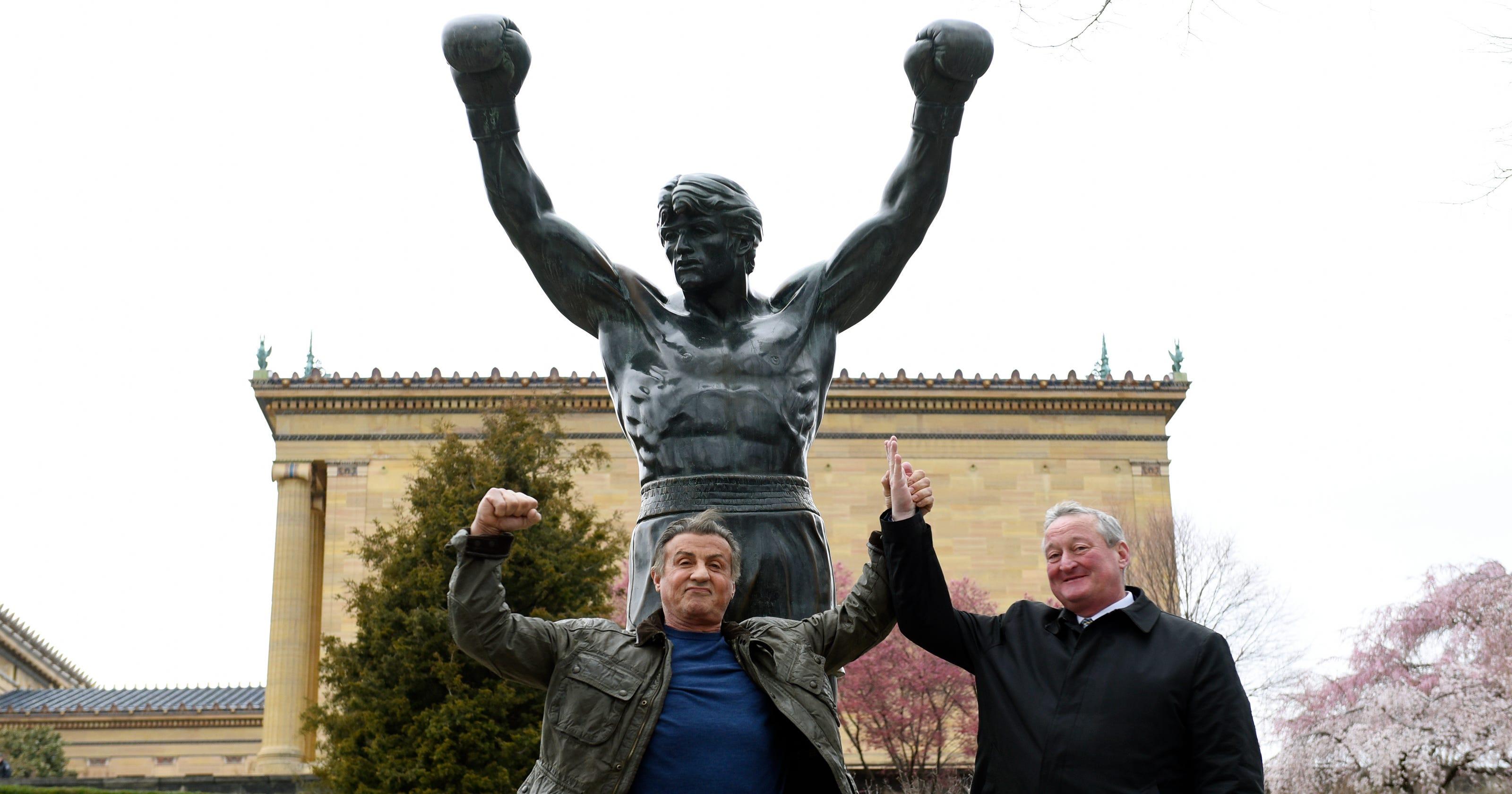 Rocky Statue