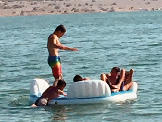Danny Udero/Sun-News   Elephant Butte Lake is a popular summer destination for outdoor water sports.