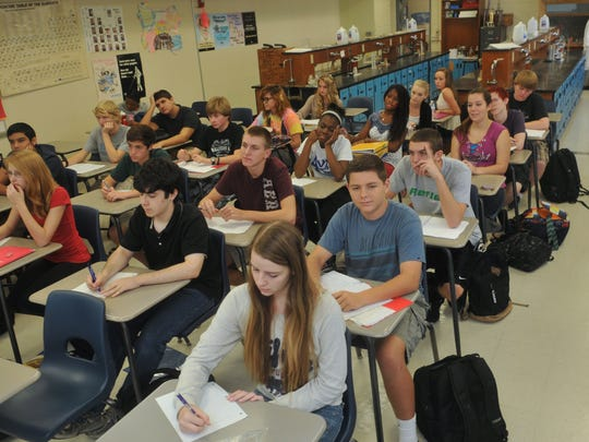 Students in a Rockledge High classroom.