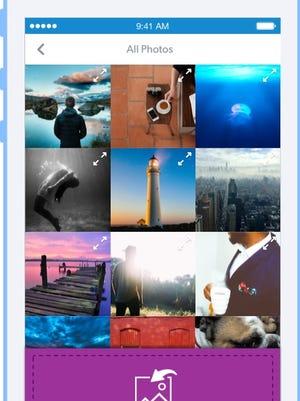 A screenshot of the app FotoSwipe.