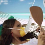 SI swimsuit models in flight safety video | ZoomIN