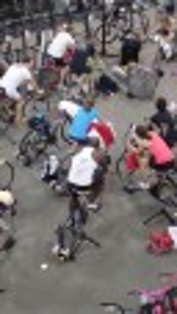 Bike training session