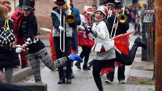 In this file photo the Hungry March Band performs on East Market Street at Rhinbeck Sinterklaas in Rhinbeck.