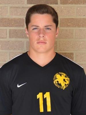 Senior Christian Olson is a team tri-captain and a third-year varsity starter.