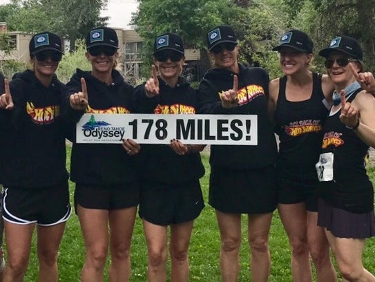 The Hot Wheels 6 Pack team that won the women's division