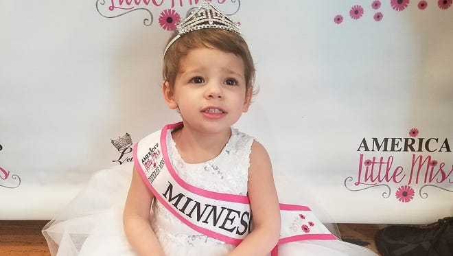 Lydia Mohs, 2, of St. Cloud was crowned Toddler Miss Minnesota on April 15 in the America's Little Miss pageant in Bloomington.