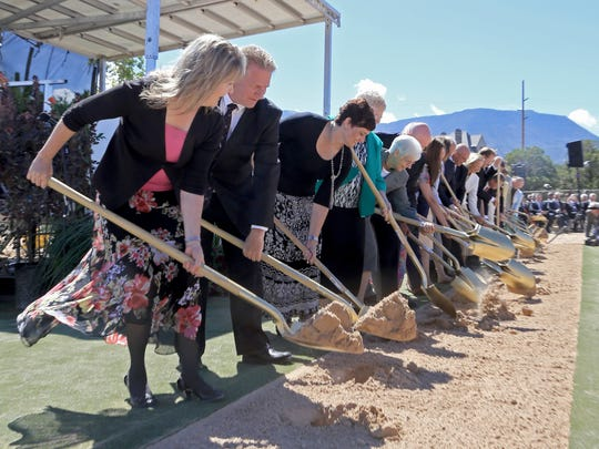 Dignitaries ceremoniously break ground Saturday morning