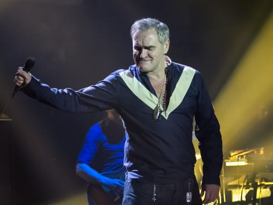 A sold-out crowd greeted indie music icon Morrissey for his performance at the Masonic Temple in Detroit on Wednesday, July 08, 2015.