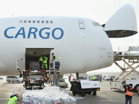 Cargo planes operate under the same regulations as passenger aircraft.