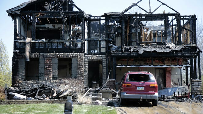 Coals from a smoker may have caused a massive fire that destroyed a Lebanon home Tuesday afternoon.