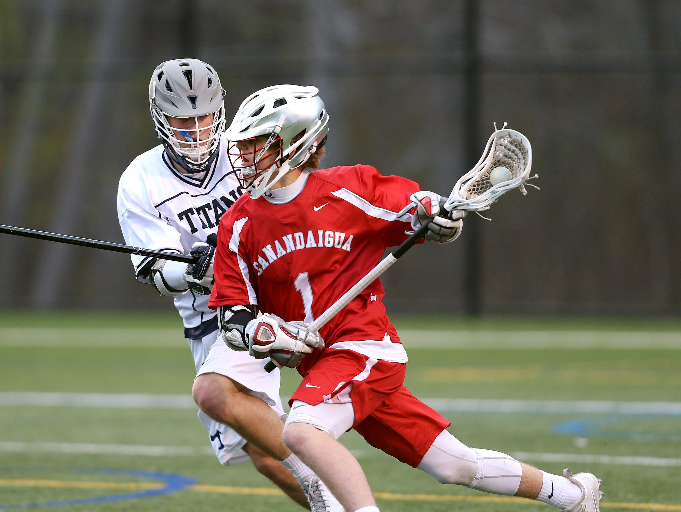 Canandaigua's Devin Andrews was the AGR boys lacrosse