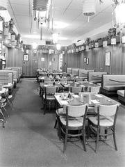 Interior of Yat Wah Chinese restaurant, Jan. 25, 1972.