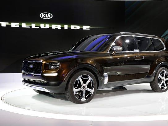 The Kia Telluride concept debuts at the North American