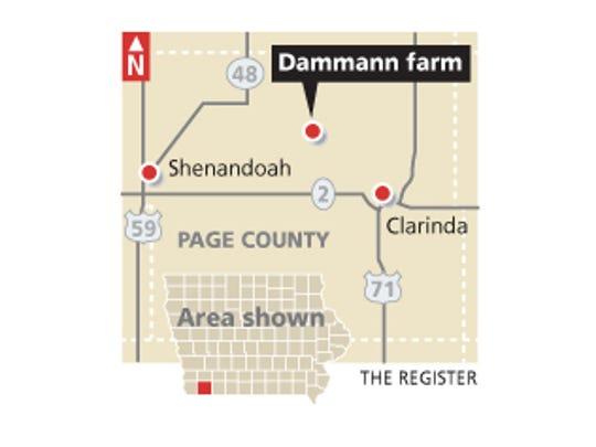 The Dammann farm in Page County.
