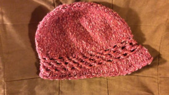 This is a Folly Cloche I knitted last summer.