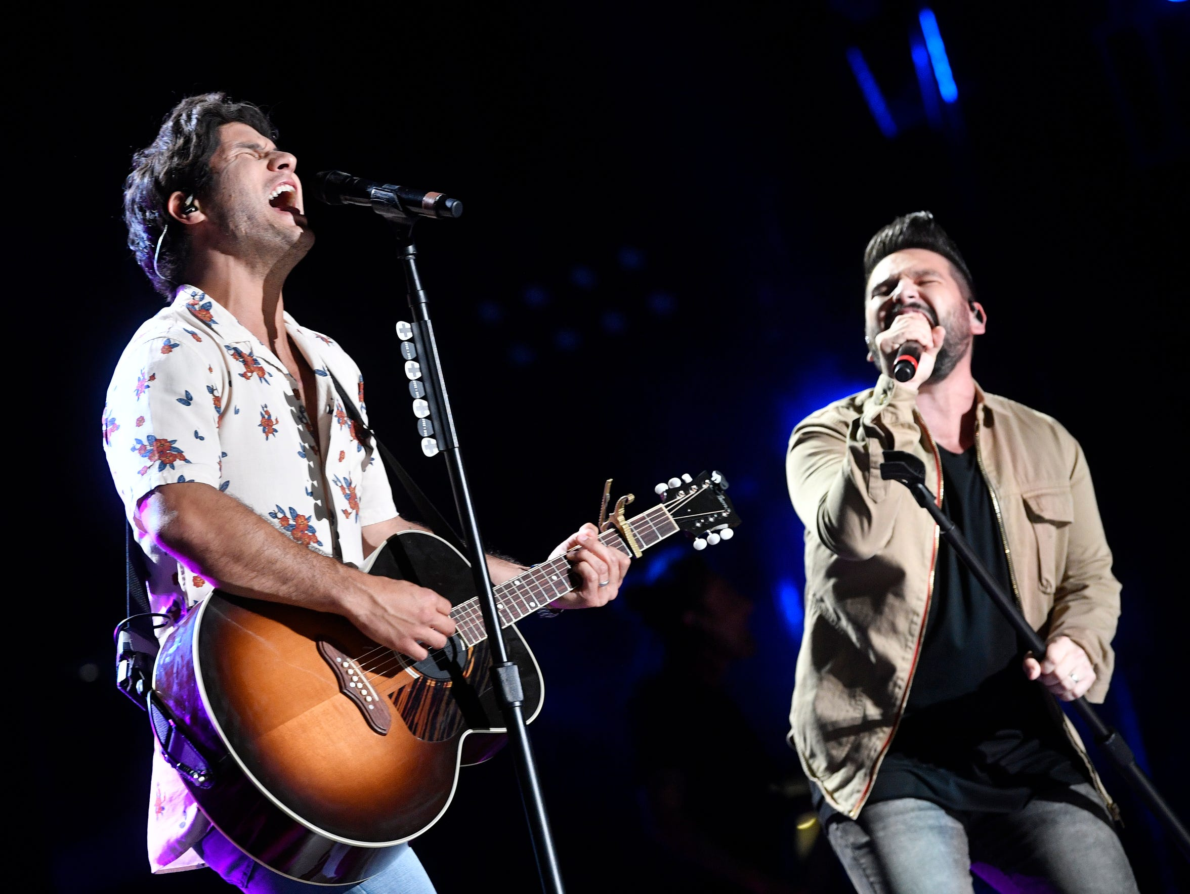 Dan + Shay perform at the CMA Music Festival on June