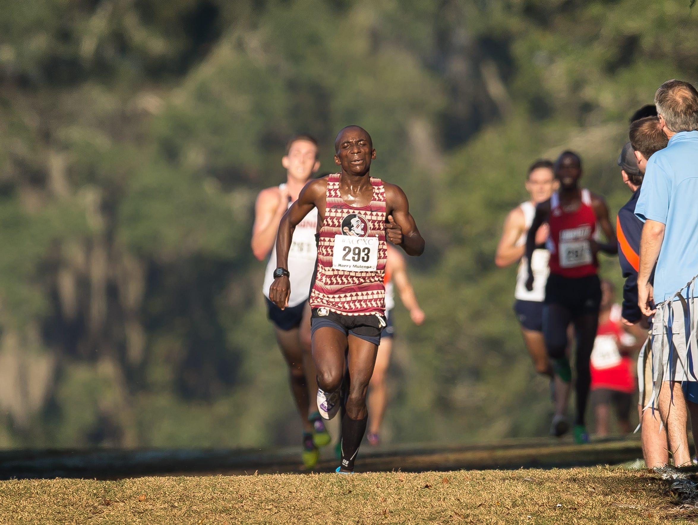 Harry Mulenga racing for FSU in 2015.