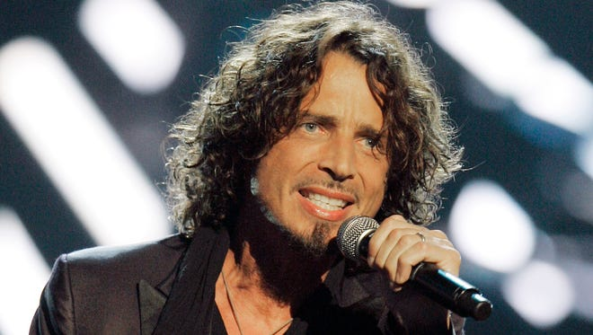 Musician Chris Cornell performs on stage during Conde Nast's Fashion Rocks show in New York in September 2008.