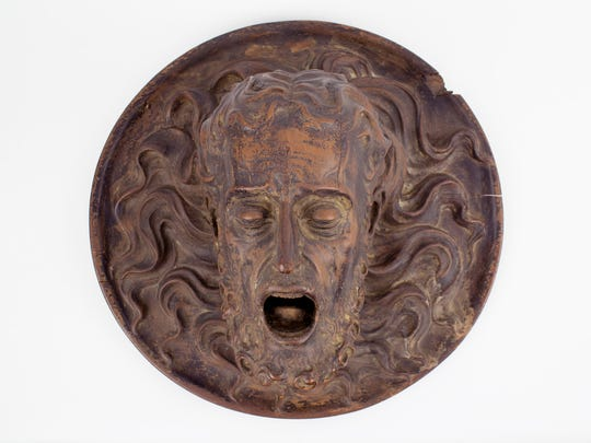 "Juan Alonzo Villabrille y Ron (Spanish, 1663-1728), ""Head of St. John the Baptist on a Platter,"" ca. early 17th century. Wood with traces of polychrome."