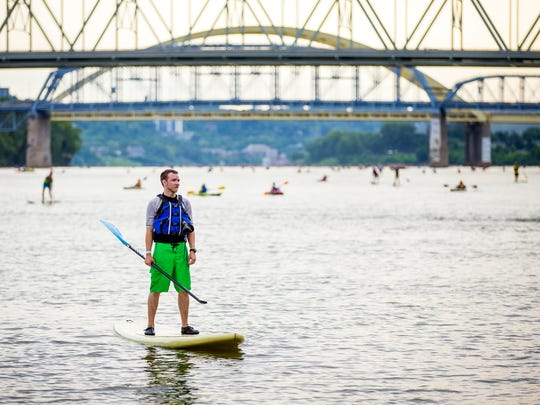 More than 2,000 people participated in the 15th Annual Paddlefest Saturday, August 6, 2016. Participants started at Schmidt Recreation Complex and traveled 9 miles on the Ohio River to Gilday Riverside Park.