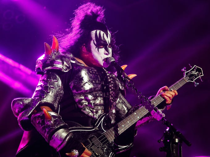 KISS performs at the Iowa State Fair on Friday, August