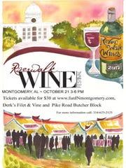 The 2017 Riverwalk Wine Festival is Saturday in Montgomery.