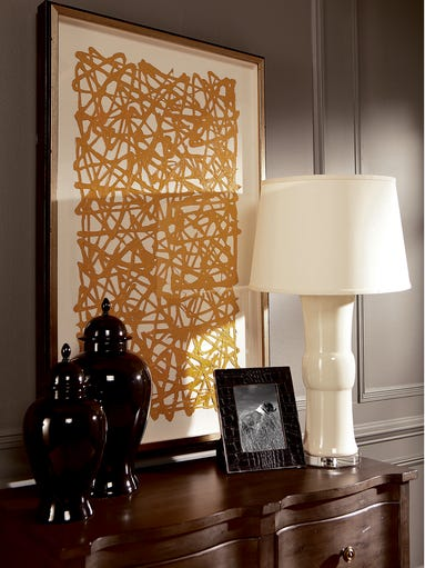 Lamps often are used on bureaus or commodes to cast