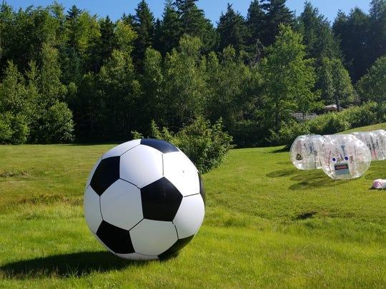 Bubble soccer offered by All-In BubbleBallin.