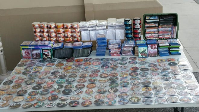 Deputies confiscated some 900 counterfeit DVDs from a man they pulled over for speeding.