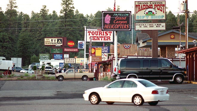 Tusayan, a tiny town on the road to the Grand Canyon's South Rim. Town officials are thinking that maybe Tusayan isn?t the name best suited for this community. AP Photo/Jake Bacon, Arizona Daily Sun,File)