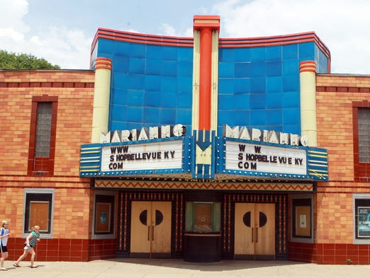 Exterior of  the Marianne theater in the 600 block of Fairfield Avenue, Bellevue, which the city has recently bought.  The city is seeking a developer who will restore it to its original state, Mayor Ed Riehl said.