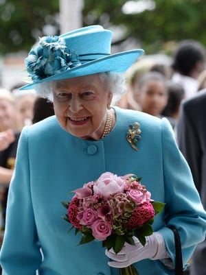 Queen Elizabeth II visits the Abbey Leisure Centre in Barking as part of celebrations to mark Barking and Dagenham's 50th anniversary as a London Borough on July 16, in Barking, London, United Kingdom.
