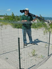 Josh Martinez, a DNR wildlife biologist, explains the