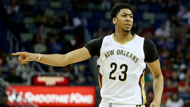 New Orleans Pelicans forward Anthony Davis against the Milwaukee Bucks at the Smoothie King Center.