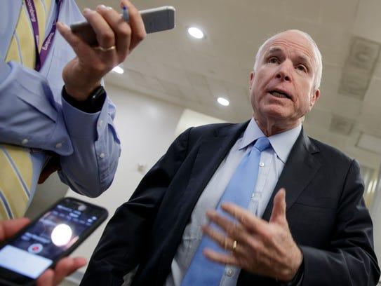 U.S. Sen. John McCain has said that demands to just