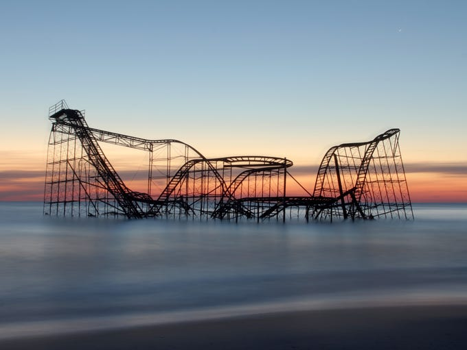 Star Jet roller coaster that was swept off the Casino